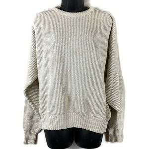 Vtg Ferranti California Knit Sweater Large Cream